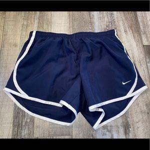 Nike blue white athletic shorts